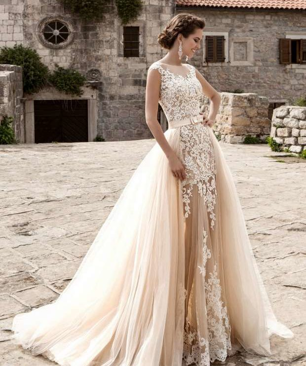 Elegant wedding dresses with stones 2020