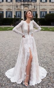 Wedding dress rhinestones 2020