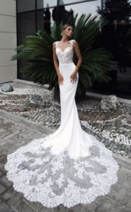 dresses with crystal stones for wedding party