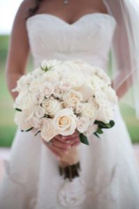 how to make a cascading bridal bouquet with silk flowers?