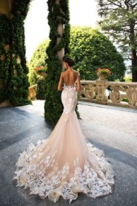 Reviev Backless Bridal Gowns Flower Lace Wedding Dresses for Bride Mermaid Dress