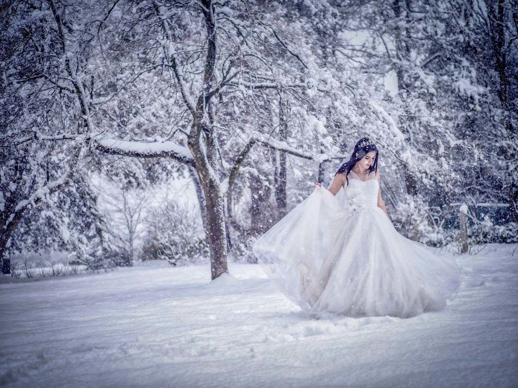 outdoor winter wedding