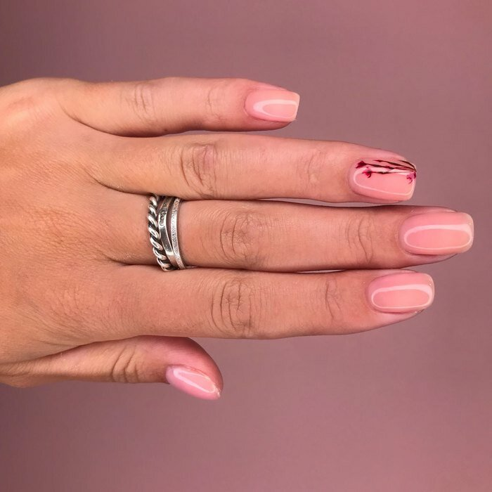 Pink with a twist wedding nails