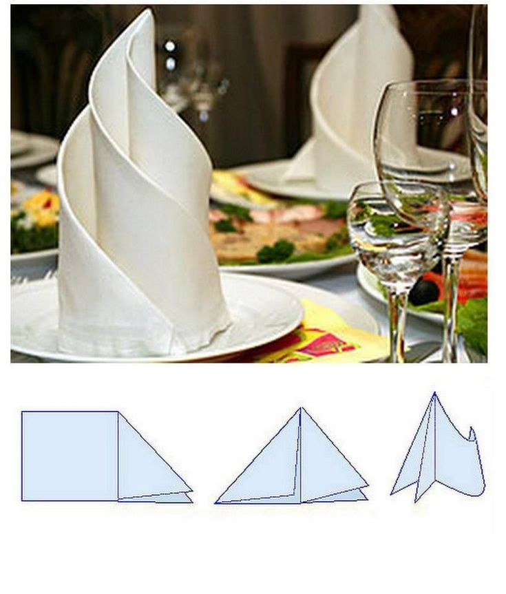 How to quickly decorate a table with napkins?
